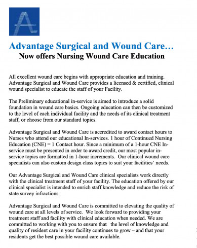 Advantage Surgical and Wound Care…